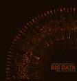 big data circular orange vector image vector image
