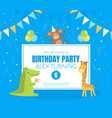 birthday party banner template invitation card vector image vector image