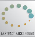 bright abstract background with circles vector image vector image