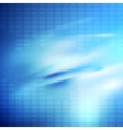 Bright blue smooth glossy tech background vector image vector image