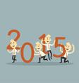 businessman teamwork holding 2015 vector image vector image