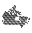 canada map from 3d black cubes isometric abstract