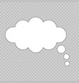 cartoon cloud bubble speech vector image