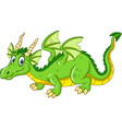 cartoon dragon isolated on white background vector image