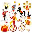 circus set cartoon vector image