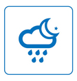 Cloud rain and moon star icon vector image