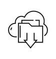 cloud storage line icon concept sign outline vector image