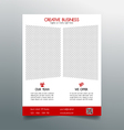 Creative business flyer template - red sleek desig vector image vector image