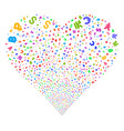 currency symbols fireworks heart vector image vector image