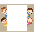 Cute family post with white frame vector image vector image