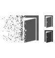 damaged pixel halftone door icon vector image vector image