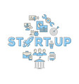 digital blue red startup vector image vector image
