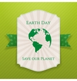 Earth Day big realistic paper Banner Template vector image vector image