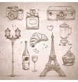 elements of Paris vector image