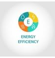 Energy efficienty logo vector image vector image