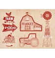 Farm vintage red vector image