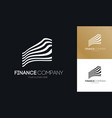finance logo abstract line style vector image vector image
