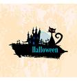 halloween invitation poster vector image vector image