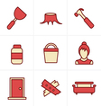 Icons Style Icons set carpentry vector image vector image