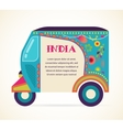 India - background with patterned rickshaw vector image vector image