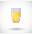 lemonade flat icon vector image vector image