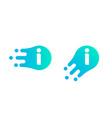 letter i logo abstract liquid bubble drop vector image