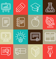 line icons and signs - education vector image vector image