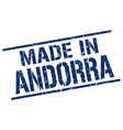 made in andorra stamp vector image vector image