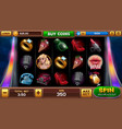 main screen for pin-up slots game vector image