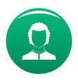 man avatar icon green vector image vector image