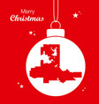 merry christmas theme with map of las vegas nevada vector image vector image