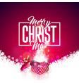 merry christmas with gift box and vector image vector image
