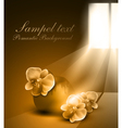 monochrome sepia romantic background with vase vector image vector image