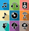 Music flat icons set vector image vector image