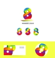 Number 8 eight logo icon set business corporate vector image vector image