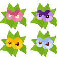 pansy flowers or spring garden viola tricolor vector image