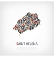 people map country Saint Helena vector image vector image