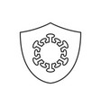 protection against coronavirus linear icon on vector image vector image