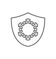 protection against coronavirus linear icon vector image