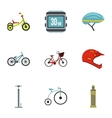 Race cycling icons set flat style vector image vector image