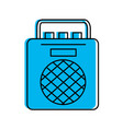 radio music player icon vector image vector image
