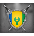 Saint Vincent and Grenadines Medieval Background vector image vector image