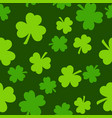 seamless saint patrick s day pattern with green vector image vector image