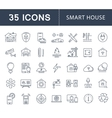 Set Flat Line Icons Smart House vector image vector image