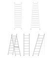 Set ladders vector image vector image