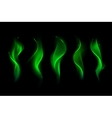 Set of Different Magic Green Fire Flame vector image vector image