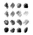 set of pencil drawing vector image vector image