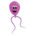 smiling pink balloon on white background vector image