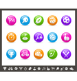 Sports Buttons Rainbow Series vector image vector image