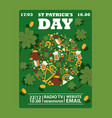 st patricks day irish style vector image